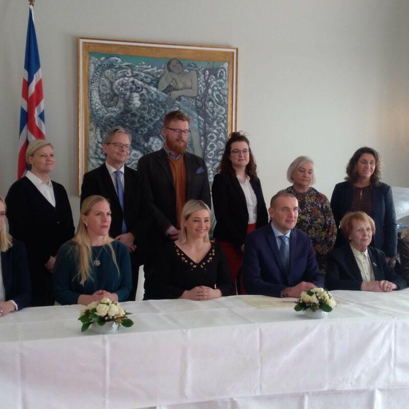 Islannin valtio allekirjoitti ensimmäisenä maailmassa WFD:n julkilausuman