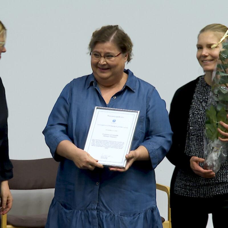Vuoden viittomakielitekopalkinto 2019 päiväkoti Franzenialle