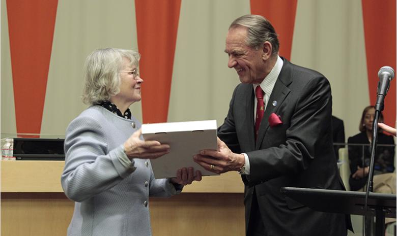 Liisa Kauppinen och Jan Eliasson