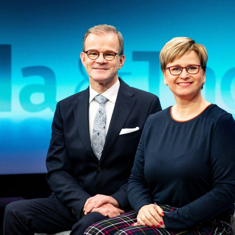 Mikaela Tillander ja Thomas Sandholm