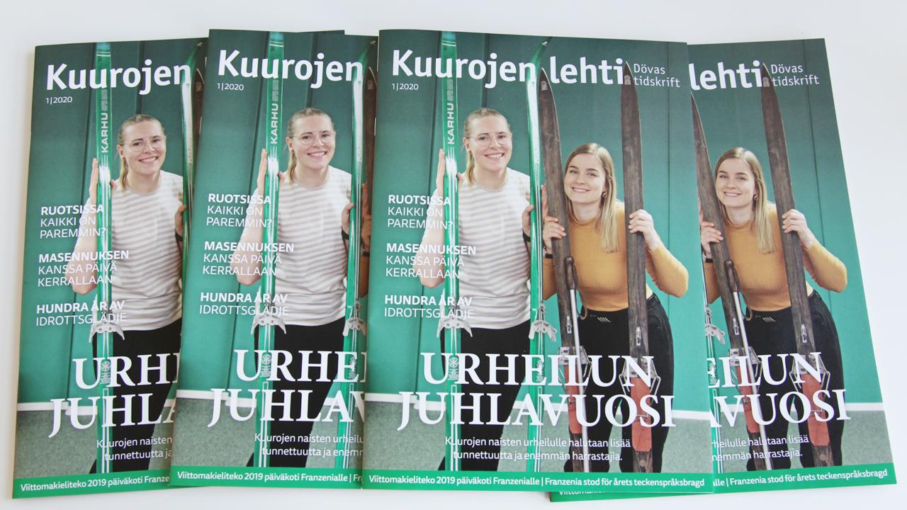 Kuurojen lehti 1/2020 kansi
