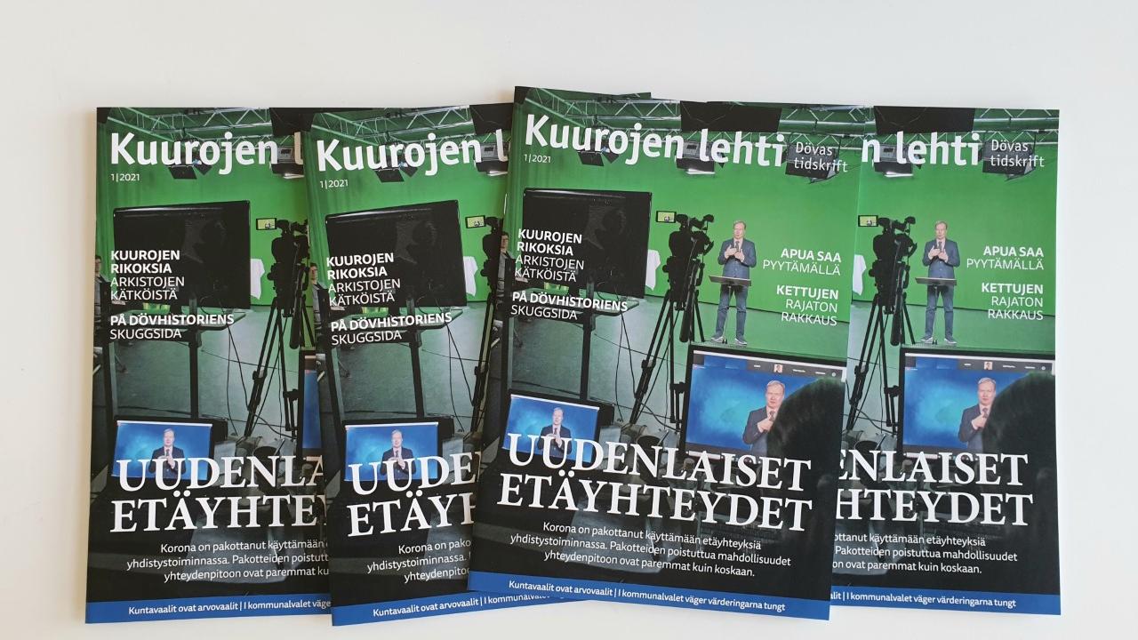 Kuurojen lehti kansia 1/2021